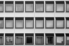 (Delay Tactics) Tags: doncaster windows grid shirts laundry 18 film black white bw red october oktober