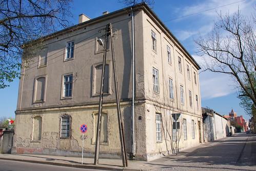 Dawne więzienie w Łęczycy od północnego zachodu