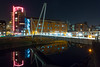 River Aire, Leeds (zena_suleman97) Tags: river aire leeds night pink buildings lights urban photography nx1000 samsung water reflection
