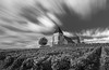 Church in the vineyards 3 (fred-4-ever) Tags: eglise church cross croix grapes vigne vineyards champagne longexposure expositionlongue sky cloud nuage france blackandwhite bw noiretblanc monochrome leica qtype116 ciel