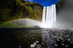 E m p y r e a n  |  Skógafoss (_Amritash_) Tags: empyrean skógafoss heavenly waterfall skógariver river iceland longexposure longexposurejunkie cliffs cataract 63°31′47n19°30′50w