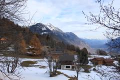 Ravoire (bulbocode909) Tags: valais suisse ravoire villages maisons chalets montagnes nature automne arbres forêts neige paysages bleu orange chavalard scexcarro grandgarde plainedurhône