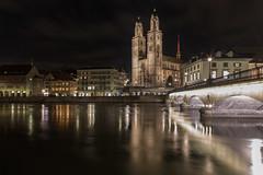 A good night (Tazmanic) Tags: zürich switzerland cathedral cityscape oldtown river bridge nightshot