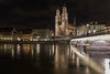 A good night (Tazmanic) Tags: zürich switzerland cathedral cityscape oldtown river bridge nightshot