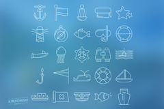 Marine Icon Set (mkrukowski) Tags: icon web internet business set vector symbol media technology school phone money mobile interface graphic shopping website button design bank collection computer pictogram social arrow ui concept flat app isolated