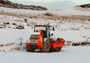 Snow! (HivizPhotography) Tags: hamm h16i compactor roller construction machine snow scotland aberdeen ahep harbour project infrastructure industry white cold expansion