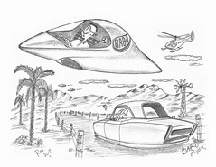 BABO Flyer (rod1691) Tags: bw scifi grey concept custom car retro space hotrod drawing pencil h2 hb original story fantasy funny tale automotive art illistration greyscale moonpies sketch sexy