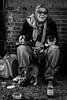 Cat Lady, Manhattan, New York (King Grecko) Tags: america animalsandpets bw bigapple manhattan nyc newyork people travel usa americana black blackandwhite canon cat cats contrast homeless newyorkcity streetphotography portrait street animals life