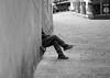 """ The time for a cigarette "" (pigianca) Tags: italy siena streetphoto urbanphoto monochrome blackwhite bw sigaretta leicam240 summilux50mmf14"