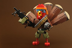 Not This Year! (Legohaulic) Tags: lego character turkey thanksgiving