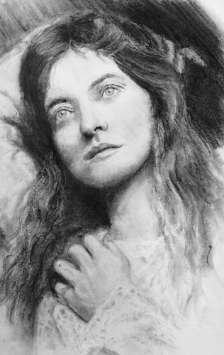Maude. Graphite and Charcoal Study.