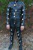 Straps & Locks (leatherman2011) Tags: leather bondage restrained locked catsuit strait jacket straight hood bound