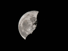 Supermoon 2017 (Amazing Aperture Photography) Tags: moon supermoon rare beautiful nature outside night dark monochrome blackandwhite astronomy arizona sedona nikon nikond800 tamron sky nightsky silhouette tree cliff mountain rocks