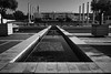 Montjuïc - Olympic Ring (Alexander.Hüls) Tags: barcelona montjuïc olympicring blackandwhite bw water lowkey