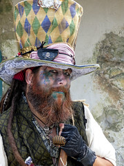 Very Mad Hatter (J Wells S) Tags: madhatter facepaint tophat staring glaring candidportrait portrait renfest ohiorenaissancefestival harveysburg ohio beard notalice notwonderland explore inexplore cosplay