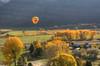 balloon above fall valley (maryannenelson) Tags: colorado durango fall balloonrally hotairballoons autumn landscape sky
