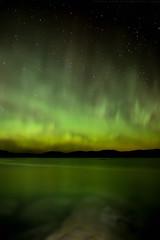 Northern Lights / Aurore Boréale (www.andrebherer.com) Tags: landscape nature nightscape nightsky paysage ciel étoiles cielétoilé quebec canada andrebherer