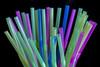 Straws (Crisp-13) Tags: green pink blue drinking plastic straws black background