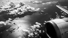 Ferry flight from Ajaccio, heading to Marseille. (BadGunman) Tags: desk fromabove landscape seascape sky clouds blackandwhite blacknwhite noiretblanc voyage travel ajaccio corsica corse marseille france 737500 735 boeing airplane aircraft fly flight plane aviation