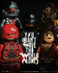 YOU CAN'T SAVE THE WORLD ALONE (iamJerryPerry) Tags: justice league dc wonderwoman aquaman batman theflash cybrog lego dccomics