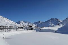 Top of the Oberalp Pass (Kecko) Tags: 2017 kecko switzerland swiss schweiz suisse svizzera innerschweiz zentralschweiz uri ur matterhorngotthardbahn railway railroad mgb eisenbahn bahn station bahnhof snow schnee oberalp pass oberalppass oberalpsee see lake winter mountains berge swissphoto geotagged geo:lat=46661660 geo:lon=8666700