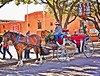 Christmas in Fort Worth! (PAULALSOBROOKS) Tags: red 6d canon tamron alsobrooks spokes buggy horse cowgirl texas christmas fortworth