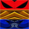 Italian Design Styling (fstop186) Tags: red blue yellow design style art primary colours triptych montage italian