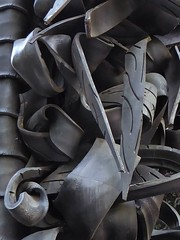 Chicago, Millennium Park, Sculpture (made from discarded tires), Abstract (Mary Warren (9.5+ million views)) Tags: chicago urban art sculpture black rubber tires abstract