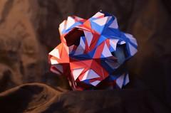 Ariadne's Crown by Natalia Romanenko (Nikita Vasiliev) Tags: origami origamiart paper paperart ariadnescrown nataliaromanenko kusudama mixed