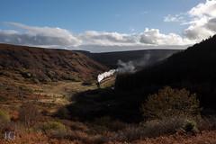 Black 5 No. 44806 - Northdale (Jonathon Gourlay) Tags: steam yorkshire train moors dale autumn landscape sun north black5 five