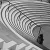 let the show beginn .... (Wackelaugen) Tags: stairs stand tribune grandstand amphitheater person street canon eos photo photography wackelaugen black white bw blackwhite blackandwhite mono noiretblanc schwarz weis schwarzweis landtag stuttgart badenwürttemberg