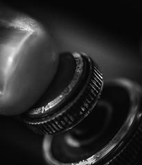 Sweet music (Matthew Johnson1) Tags: note music macromondays memberschoicemusicalinstruments macro mondays blackandwhite bw close musical instrument key valve baritone finger nail dof press push down metal metalic