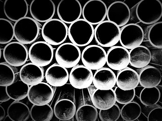a wall of tubes