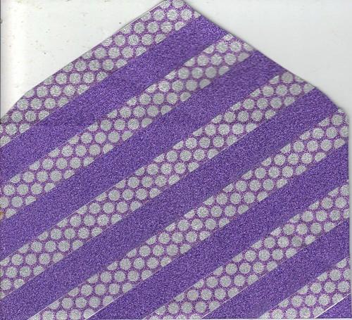 Purple Glitter Washi envie