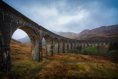 Glenfinnan (der_peste) Tags: scotland glenfinnan viaduct glenfinnanviaduct harrypotter jacobitetrain highlands weather stormy rainy architecture landscape dramatic mood sonya7ii sel1635z