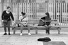 B A R C E L O N A / wanderings & encounters / 13-37 (Gintaras D) Tags: barcelona city street musician fans black white photography mono