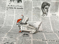 Newspaper Dachshund - Barth Dunkan. (Magic Fingaz) Tags: anjing barthdunkan chien chó dog hond hund köpek origami origamidog perro pies пас пес собака หมา 개 犬 狗