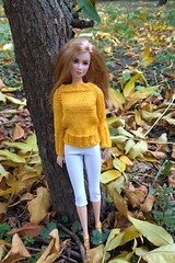 Barbie doll clothes. Hand-knitted yellow sweater & white short leggings. (uliakiev) Tags: barbie barbiedoll barbiedollclothes barbieclothes barbiesweater barbiecollector barbiecollection barbiefan barbiefashion barbieclothing barbiedolls barbieshop barbiestyle barbiestream barbiecrochet barbieknit dollclothes dollsweater dollknitting