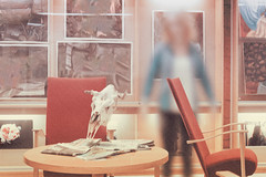 An Occurrence (pni) Tags: skull human being person people chair table paper glass imageediting composite collage photomontage vnf västranylandsfolkhögskola school teaching education karis karjaa finland suomi pekkanikrus skrubu pni postproduction