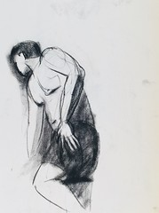 Charcoal,  5 min pose (polyphemus_polly) Tags: sketch livemodel drawing
