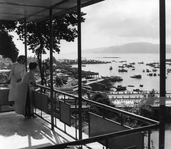 Bóng Village seen from Po Nagar Temple - Xóm Bóng nhìn từ Tháp Bà Po Nagar - Nha Trang - 1967 (Nguyen Ba Khiem) Tags: 1960s 1967 hìnhảnhxưa việtnam việtnamxưa nhatrang nhatrangxưa nguyễnbámậu phongcảnh biển nước sôngcái cầu xómbóng thápbà ponagar thápchăm chămpa thuyền sông áodài bếncá đườngphố