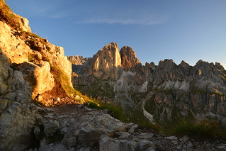 Early morning on Ciampac (2316 m) above the Val di Fassa