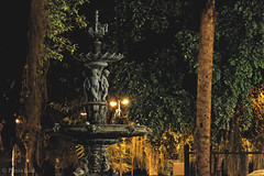 Praça dos Cavalinhos 1 (plinioleal) Tags: paisagem square praça fonte nikon statue fountain sepia nightphotography nightshots estátua telephoto tele 55200 night pic
