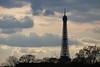 La tour Eiffel vue de la Concorde (Max Sat) Tags: 75007 bleu blue ciel cloud clouds cloudy concorde contrejour eiffel eiffeltower france fuji fujixe1 fujinon maxsat maxwellsaturnin nuage nuages nuageux ombre paris postcard shadow silhouette sky toureiffel xe1 xc50230