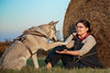 Vločenka - Highfive *EXPLORED - 22/11/2017* (Crones) Tags: canon 6d canoneos6d canonef24105mmf4lisusm 24105mmf4lisusm 24105mm vločka csv čsv československývlčák canislupusfamiliaris vlčák vlcak dog wolfdog people girlfriend pája paja