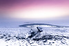 Volcano Fjordlights (Beppe Rijs) Tags: deutschland landschaft schleswigholstein germany schlei landscape natur nature gras horizont horizon farbig colored linie winter schnee snow weather wetter frost schneefeld snowfield ice eis pink black nebel haze fog mist
