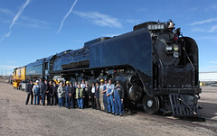 Group Photo (GLC 392) Tags: 50th anniversary cheyenne wy wyoming northern steam engine steve lee union pacific up 844 upp railroad railway train man his machine locomotive people upy 1072 yard emd mp15ac mp15dc
