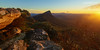Signal Peak from Mt Abrupt (cameron_sweeney) Tags: au aus australia australian gpt gariwerd grampiansnationalpark grampianspeaktrail landscape motioncontrolled photography samyang samyang14mmf28 sony sonya7r syrp syrpgenie thegrampians timelapse vic victoria wideangle a7r wwwcameronsweeneycomau dunkeld gold mountain peak sun sunrays valley mt abrupt sky sunrise morning light
