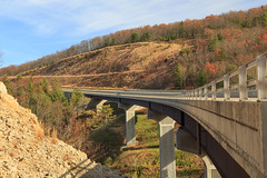 Highway Bridge (dannynavarrophoto) Tags: wv afternoon autumn bridge country day daylight fall freeway highway infrastructure landscape rural sun sunny wideangle wardensville westvirginia unitedstates us route 48 corridorh