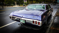 Muscle #5: '70 Caprice (El Bandolero) (Rabican-BUSY) Tags: musclecar americanmuscle purple car vehicle streetphotography automotive classic chevrolet caprice chevy newhampshire downtown manchester vintage elm urban gateway bandolero v8 engine 1970